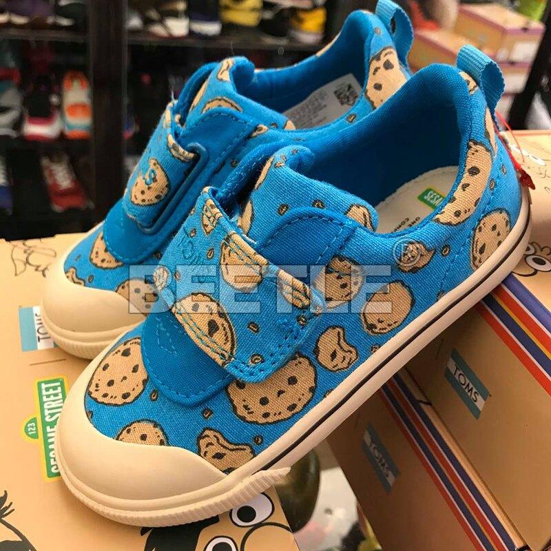現貨 BEETLE TOMS X SESAME STREET COOKIE MONSTER 藍 餅乾怪獸 帆布鞋 小朋友 TOMS-037