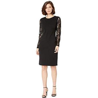 [LAUREN Ralph Lauren(ローレンラルフローレン)] ドレス・ワンピース 130H Luxe Tech Crepe Keanu Long Sleeve Day Dress Black M [並行輸入品]