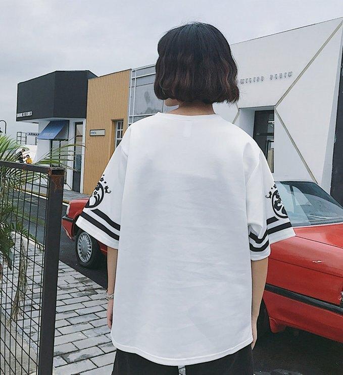 FINDSENSE 韓國  日式  寬松  男女  潮流 短袖T恤  情侶T恤  學生T恤 特色T恤 GF