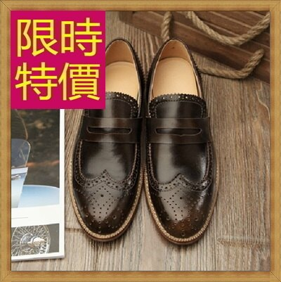 ★樂福鞋休閒鞋-英倫學院風懶人男皮鞋4色59p10【韓國進口】【米蘭精品】