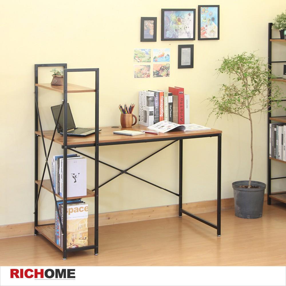 鋼鐵人雙向書架桌  書架/書桌/電腦桌【DE251】RICHOME