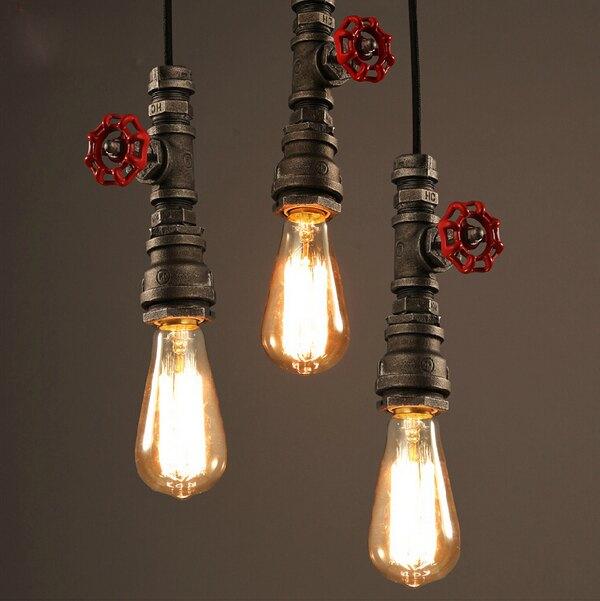 【威森家居】美式 消防管燈泡吊燈 現貨原木工業風現代簡約復古吸頂燈吊燈壁燈大廳客廳臥室陽台燈具LED設計師L170474