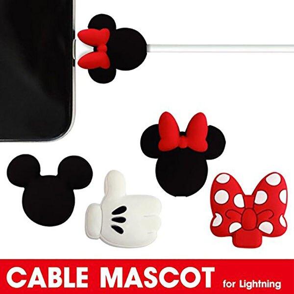 迪士尼 iPhone傳輸線/充電線 防斷保護套 gourmandise 日本正版 該該貝比日本精品