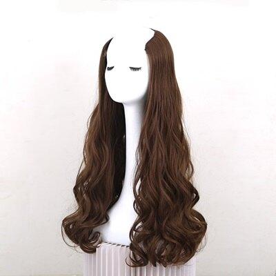 假髮髮片-長直髮捲髮一片式接髮女假髮4色73uh2【獨家進口】【米蘭精品】