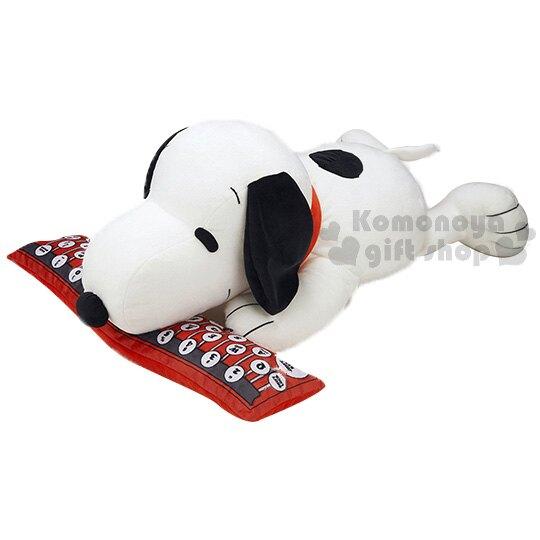 【領券折$30】小禮堂 史努比 絨毛玩偶娃娃《L.白.趴姿.紅色鍵盤》