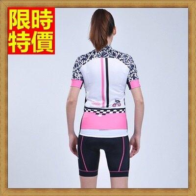 自行車衣套裝含短袖單車服+單車褲-塗鴉俏皮花色女運動服69u94【獨家進口】【米蘭精品】