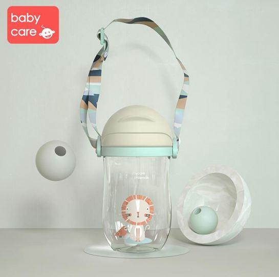 babycare兒童水杯防摔幼兒園寶寶防漏防嗆吸管杯帶重力球學飲杯