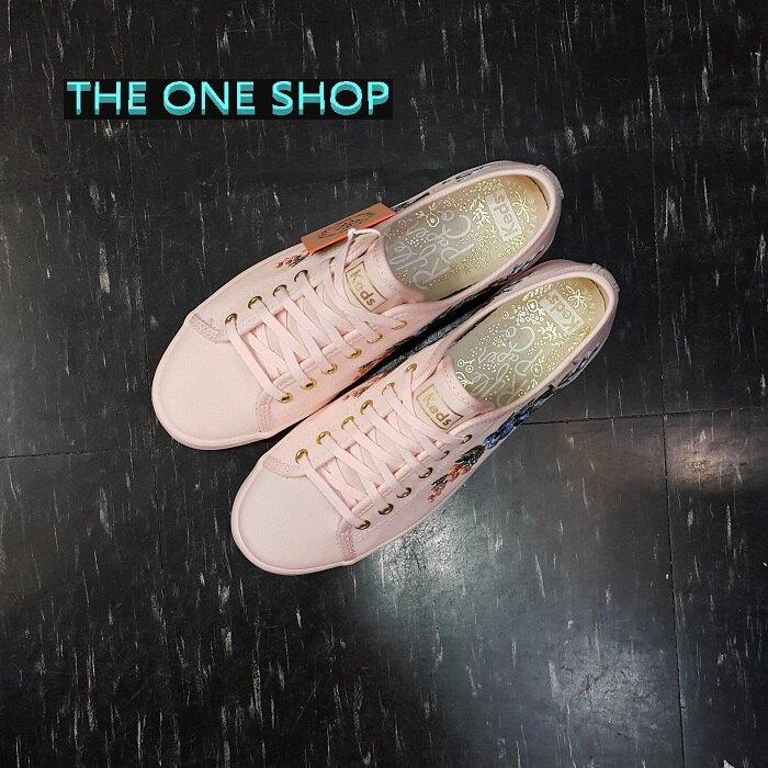 Keds RIFLE PAPER CO. 繡花 花卉 刺繡 粉紅色 粉色 帆布鞋 限量 聯名款 WF59683