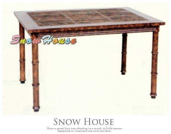 ╭☆雪之屋小舖☆╯A442J9 P36鋁合金竹紋茶几/造型餐桌/休閒桌/咖啡桌/置物桌/戶外桌/茶桌