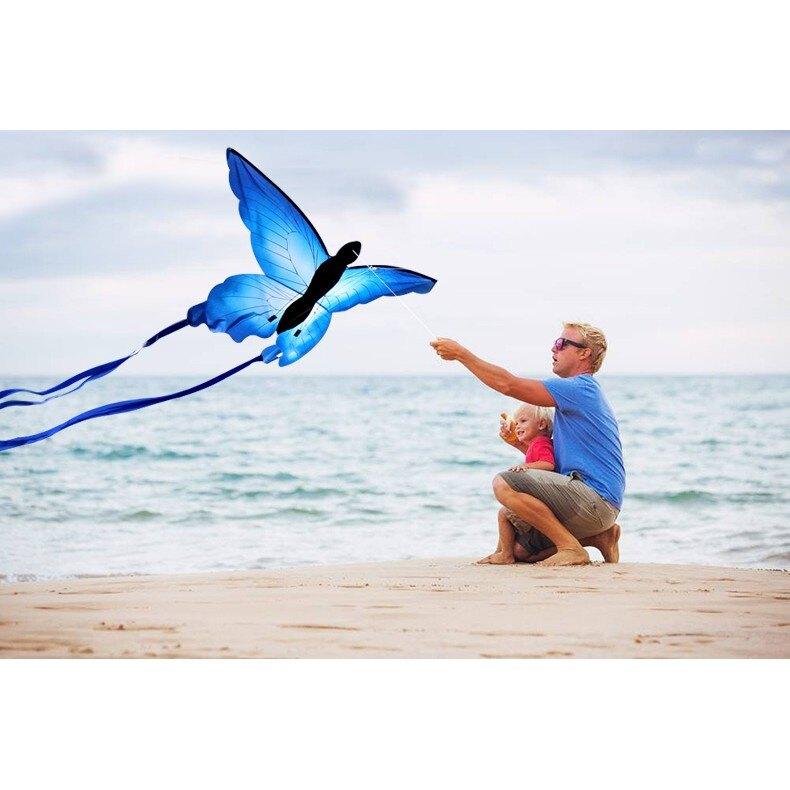 風箏 蝴蝶風箏 藍蝴蝶風箏  設計新穎漂亮 容易飛《台北日光》