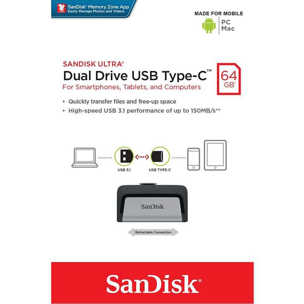 【公司貨】SanDisk 64GB 64G Ultra USB Type-C USB3.1 隨身碟