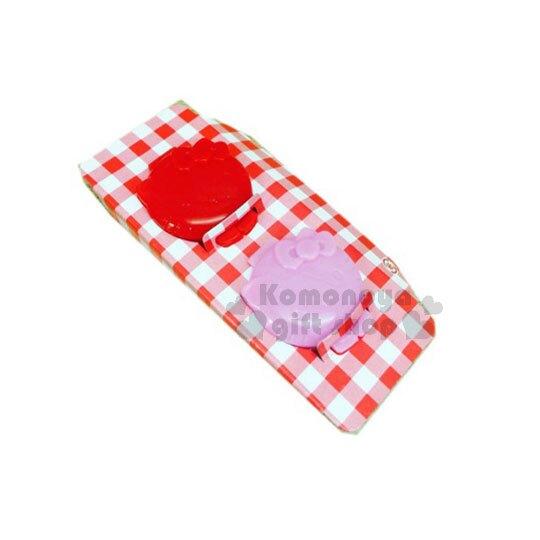 小禮堂 Hello Kitty 造型迷你醬料盒《2入.粉紅.大臉》銅板小物