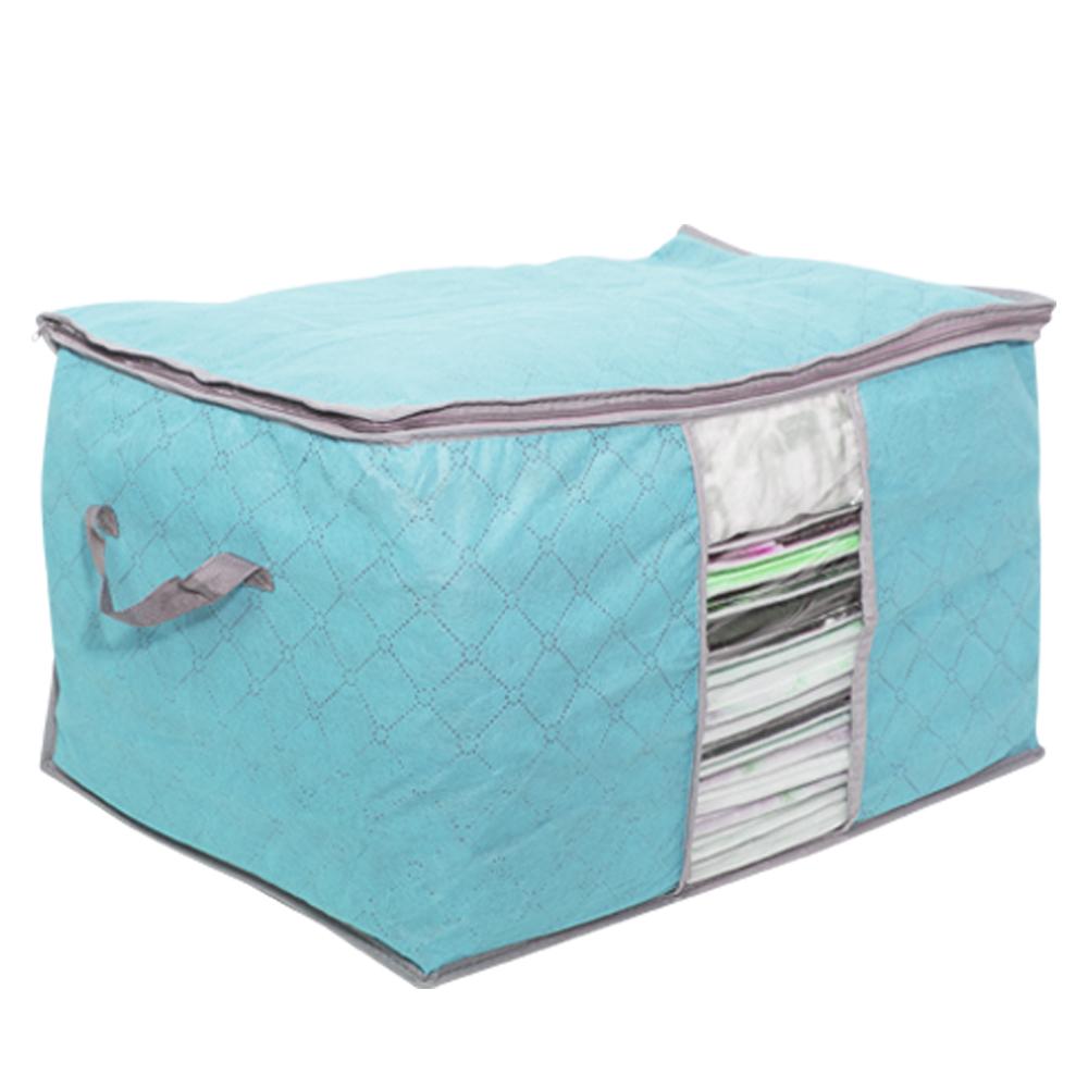 竹炭收納袋 棉被衣服衣物整理箱 換季收納 衣物收納箱 棉被收納 收納櫃 把手 置物箱【I041】