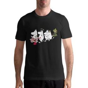 ムーミンMoomin XL 半袖 Tシャツ メンズ カジュアル 春夏 ティーシャツ スウェット 無地 個性 通勤 通学 運動 日常用 大きいサイズ