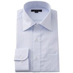 [オジエ] ozie【メンズ・ワイシャツ・カッターシャツ】スリム・長袖・形態安定・綿100%・ワイドカラー・プレミアムコットン