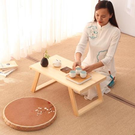 實木飄窗桌子小茶幾簡約日式電腦矮桌家用床上炕桌陽臺榻榻米茶桌 生活樂事館
