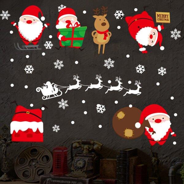 平安夜裝飾 聖誕老人 JJ805創意可重覆貼壁貼 玻璃櫥窗裝飾 室內 節日佈置【YV0648-1】BO雜貨