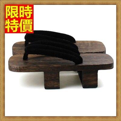 木屐夾腳拖鞋-大門武茶燒二齒男木鞋68i11【獨家進口】【米蘭精品】