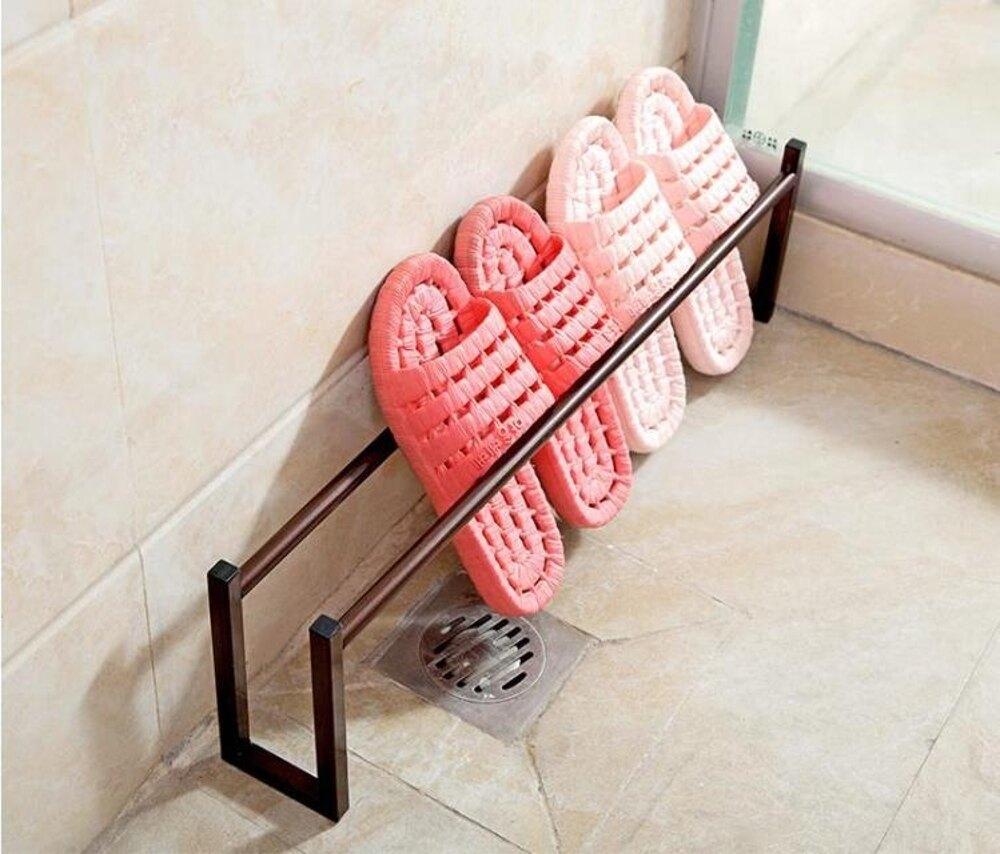 居家家鐵藝置物架客廳浴室拖鞋架宿舍鞋子收納神器寢室衛生間鞋架    全館八五折