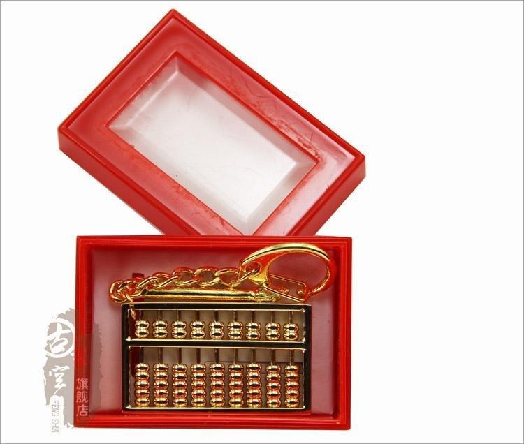 開店之寶招財解漏才黃銅鍍金算盤招貴人助運送禮佳品