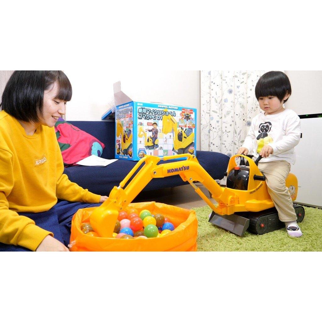 【預購】日本進口最新特価!日本電動乗用玩具No1!大號電動可坐 挖掘機壓路車工程車鏟車仿真兒童男孩玩具車【星野日本玩具】