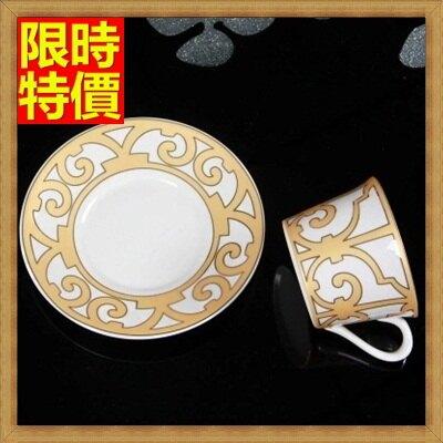 ★下午茶茶具含茶壺咖啡杯組合-6人金碧奢華歐式高檔陶瓷茶具69g67【獨家進口】【米蘭精品】