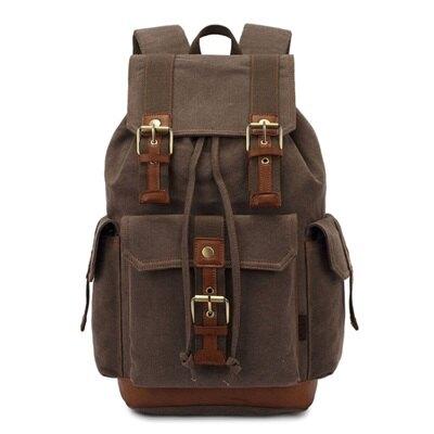 雙肩包帆布後背包-歐美經典休閒旅行男包包5色73re11【獨家進口】【米蘭精品】