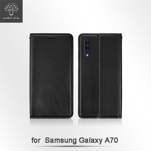 Metal Slim Samsung Galaxy A70 超薄TPU皮套側掀可立皮套