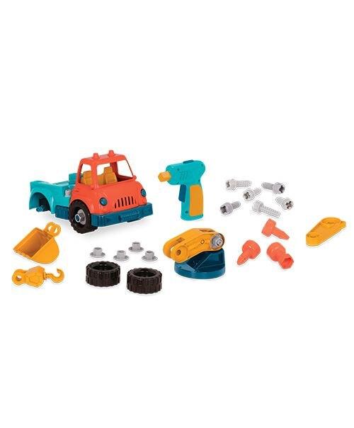 【淘氣寶寶】美國 B.Toys Wonder Wheels系列 索羅斯起重怪手