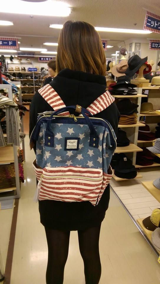 ANELLO 日本進口 anello 後背包~ 美國國旗款