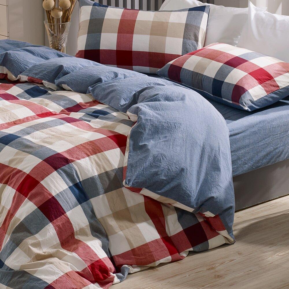 兩用被套 單人鋪棉被套 色織水洗棉 英格蘭[鴻宇]台灣製2115