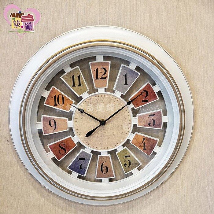 刷色環型邊框簍空造型時鐘掛鐘  復刻工業風仿舊牆面時鐘  客廳房間營業空間擺飾藝術品 【築巢傢飾】