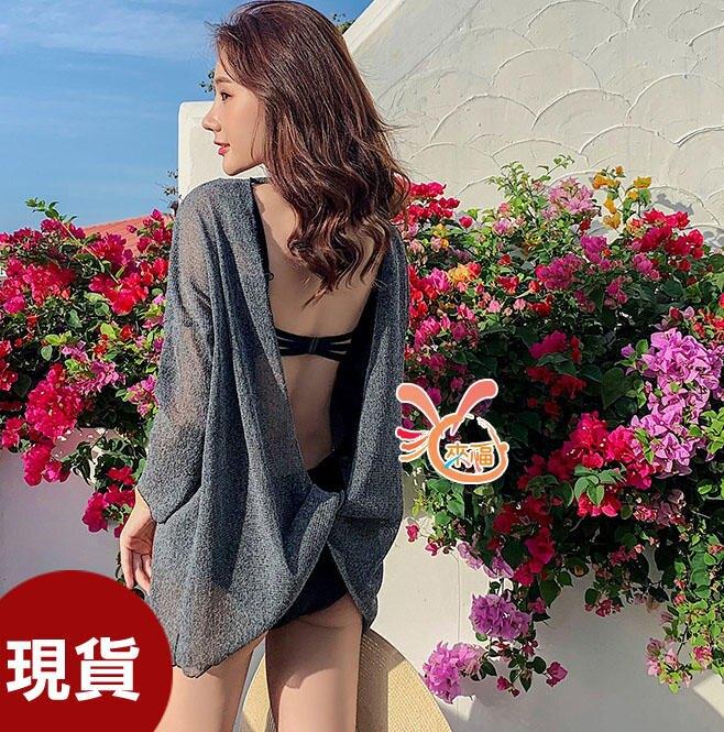 上衣來福,V322罩衫後打結微透罩衫可內搭泳衣比基尼正品,單罩衫售價590元