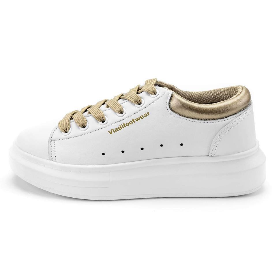 真皮休閒鞋,厚底小白鞋,台灣製造,女 雪白