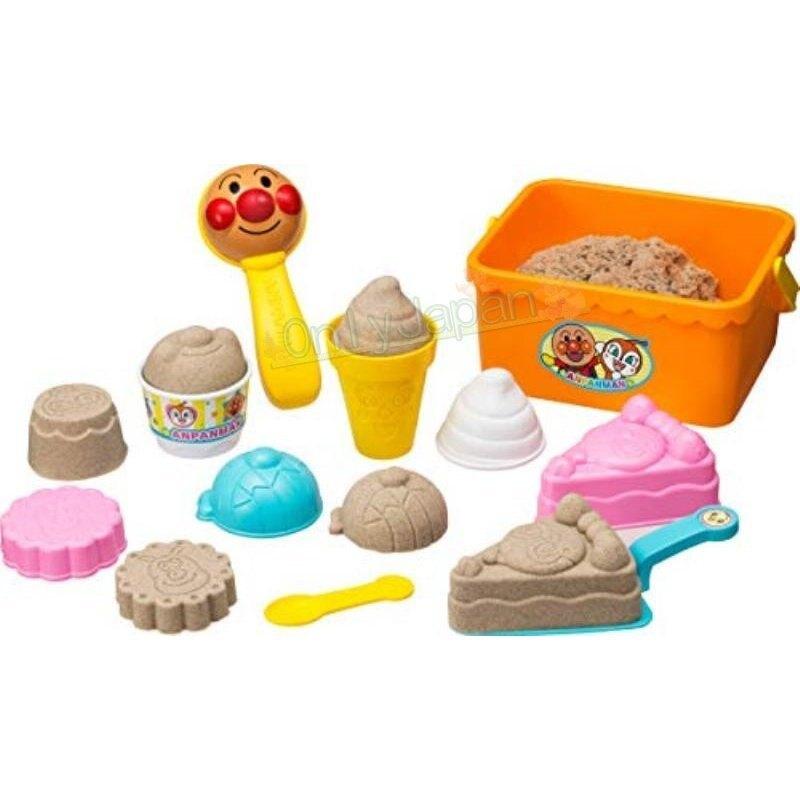 4971404315587 挖沙工具附提籃-ANP橘 麵包超人 兒童最愛 兒童玩具 st安全玩具 ANPANMAN 甜點 點心 系列 挖沙 戲水 玩沙 沙灘 工具 玩具 附收納籃 真愛日本