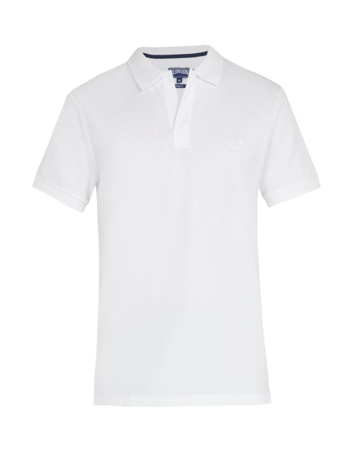 Vilebrequin - Short-sleeved Cotton-piqué Polo Shirt - Mens - White