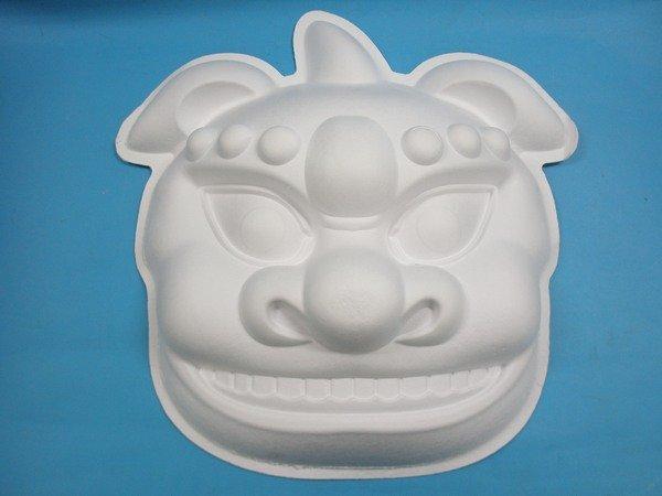 大獅頭彩繪 彩繪獅頭面具 空白獅頭面具/一袋10個入{定199}舞獅耍獅頭 弄獅~5207