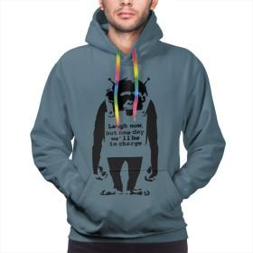 Shamp スウェットシャツ バンクシー Banksy 長袖 メンズ パーカー トップス フード付き ポケット 無地 かっこいいフード付 男女兼用 カジュアル スポーツ