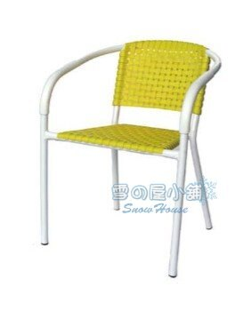 ╭☆雪之屋小舖☆╯R988-05/09/10 白管編織椅(塑膠鐵管)/戶外摩登椅/戶外休閒椅/餐椅/吧檯椅