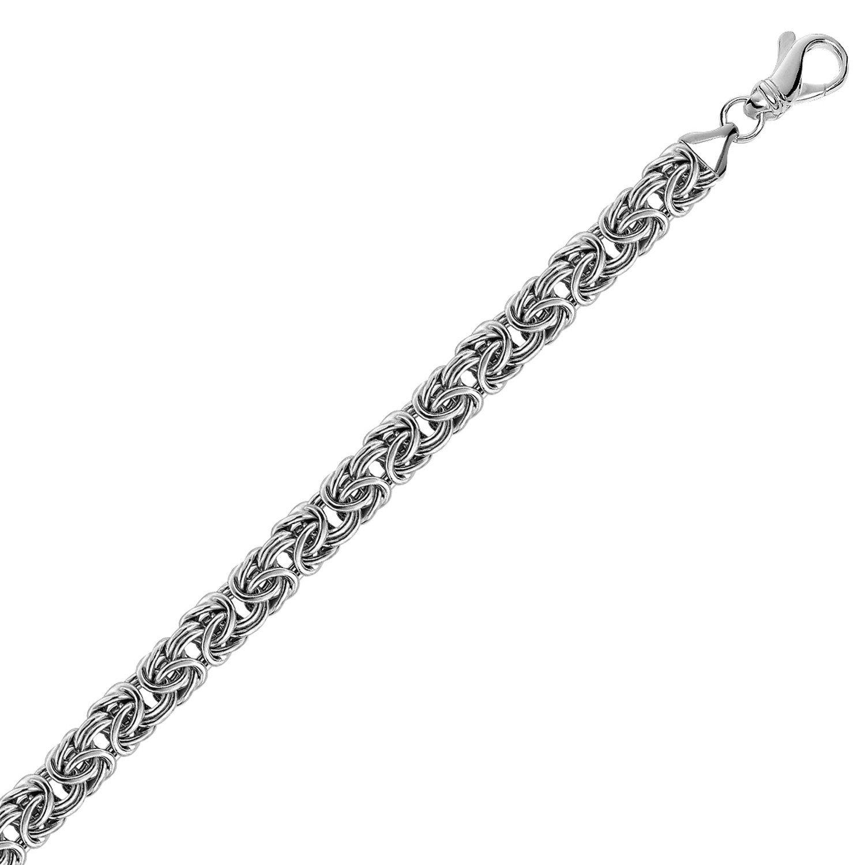 Brilliant Bijou Sterling Silver 6mm Cubetto Necklace