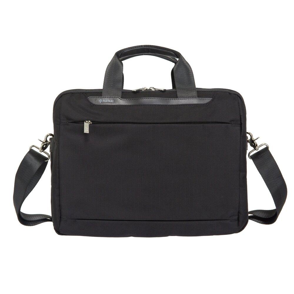 【加賀皮件】PARTAKE D1系列 可插拉桿 15吋 簡約 黑色 手提包 側背包 筆電包 商務包 公事包 D1-77