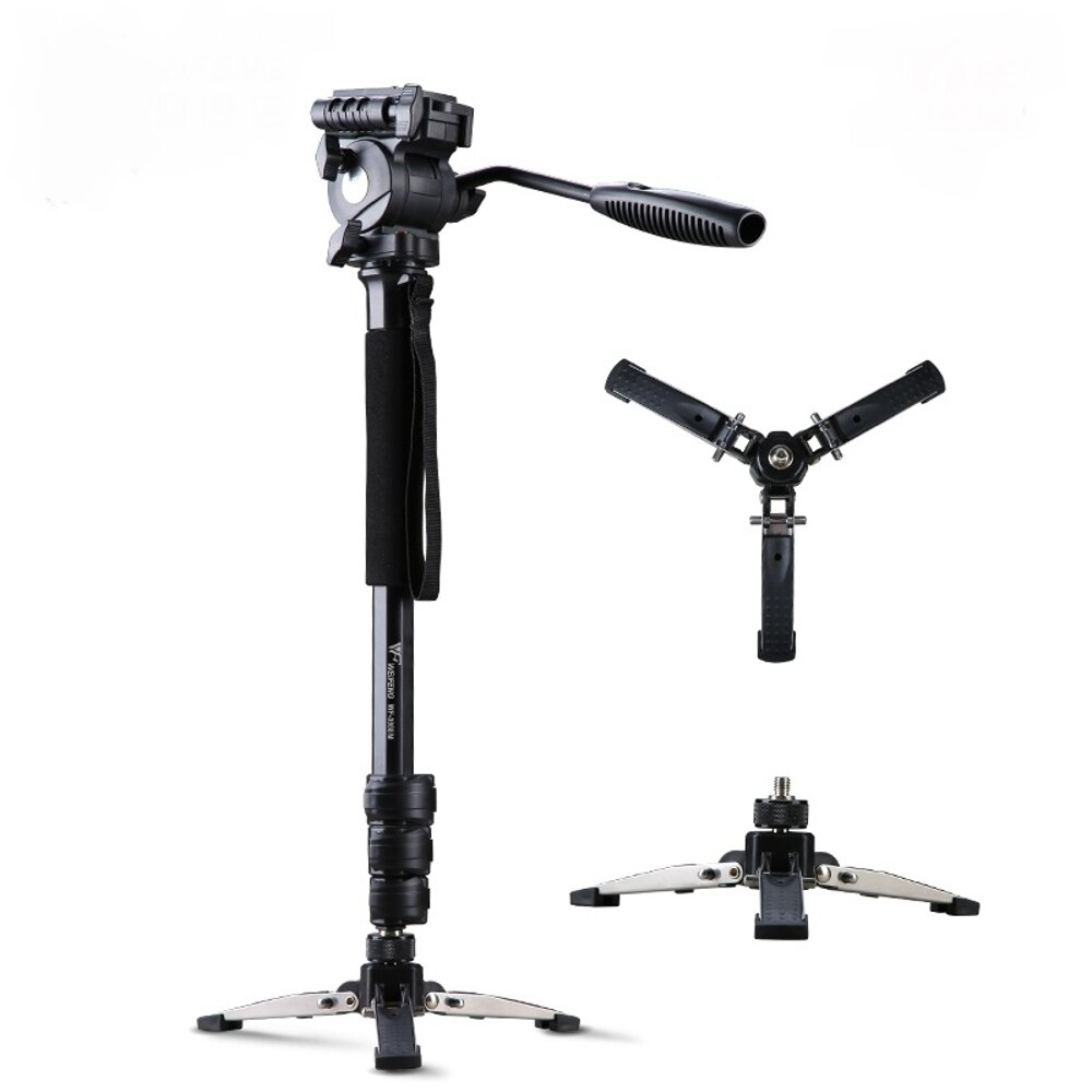 免運 偉峰3958M婚慶旅遊登山便攜獨腳架 專業攝像機單反相機手機三腳架