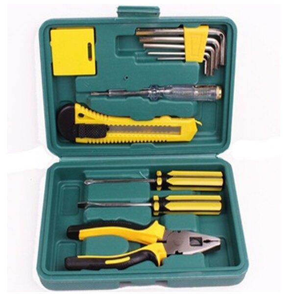 BO雜貨【SV6533】11件工具組 家用組合工具 隨身工具箱 汽車應急工具箱 螺絲工具組 露營 維修工具 汽車用品