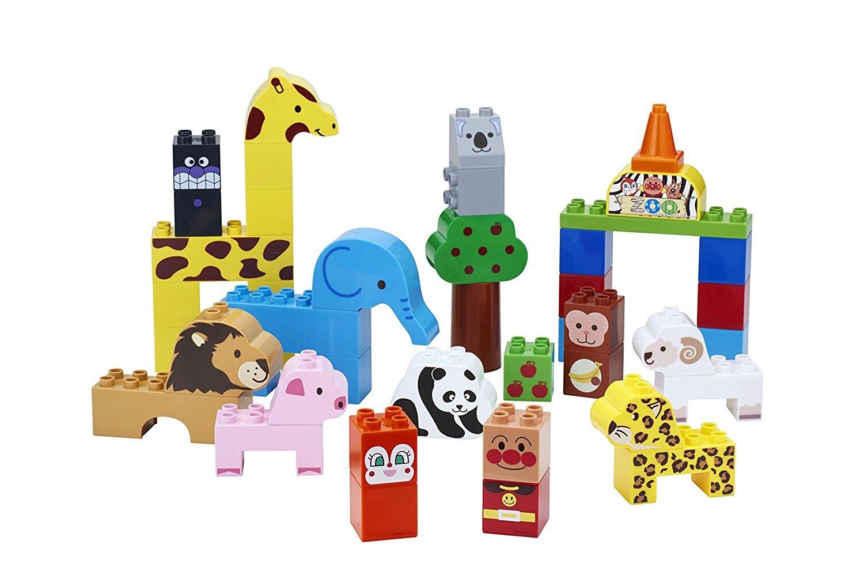 麵包超人動物園積木 ,積木玩具/樂高積木/建構棒/益智積木/積木桌遊,X射線【C002697】