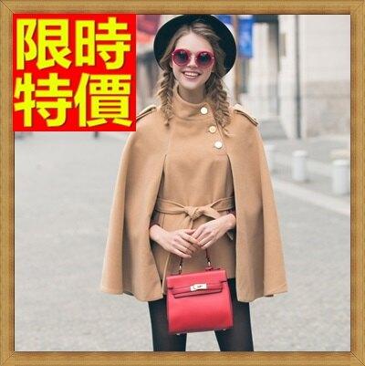 斗篷外套披風-時尚立領純色百搭保暖女外套65n33【獨家進口】【米蘭精品】