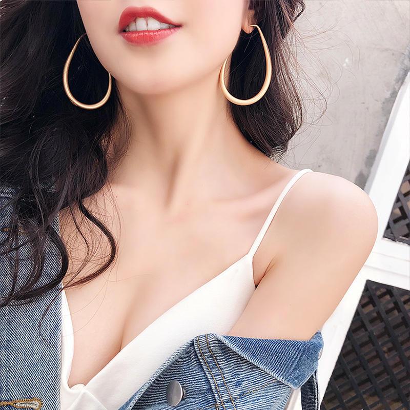 夸張設計感耳環小眾設計耳飾復古氣質韓國個性簡約百搭耳墜耳圈女1入