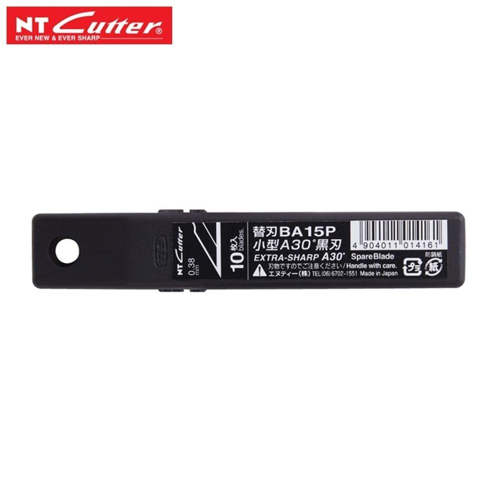 日本 NT CUTTER BA15P 高碳鋼黑刃 替刃 超銳角 30度 美工刀片適用PMGA-EVO2 EVO1 2A型