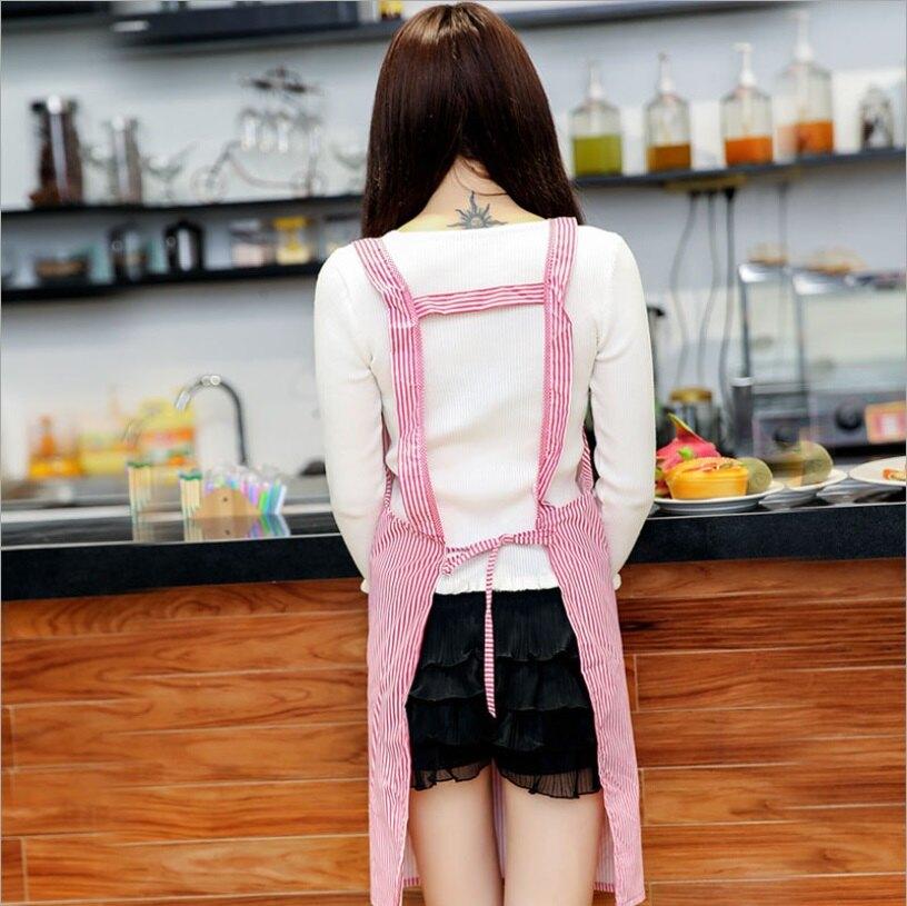 PS Mall 雙肩背帶H型時尚圍裙工字背無袖家居工作服【J504】