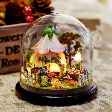 摩天輪送女孩八音盒天空之城DIY木質音樂盒女生生日禮物創意手工   伊卡萊生活館  聖誕節禮物