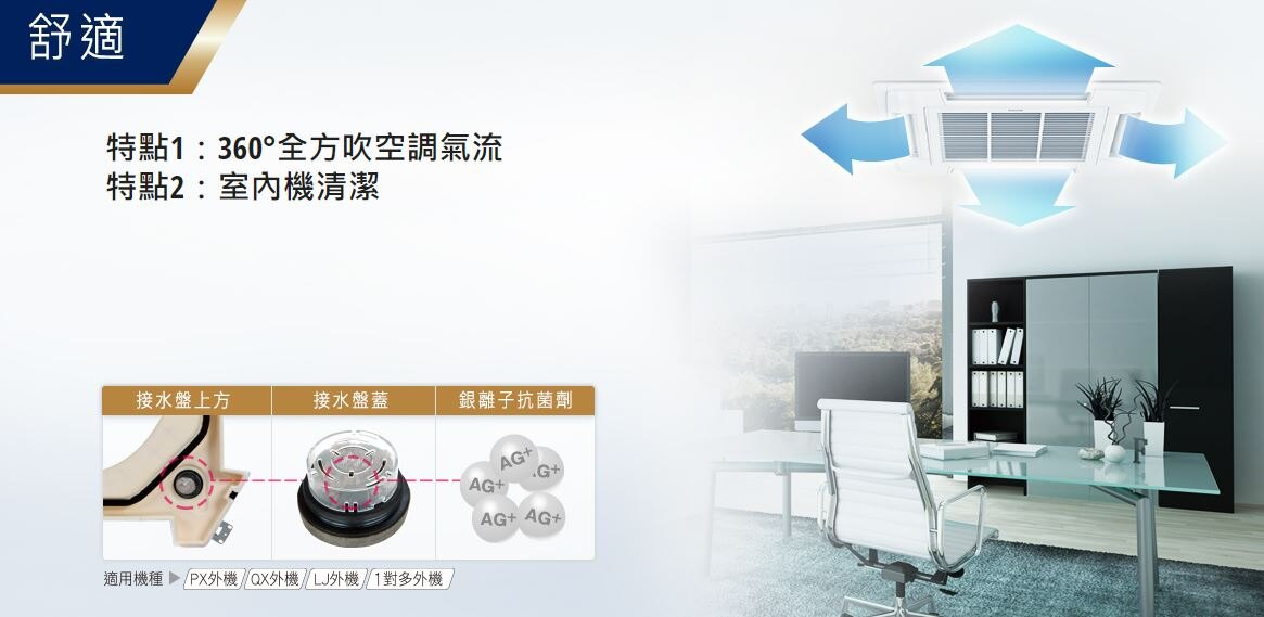 Panasonic 國際牌 QX系列 嵌入式 變頻冷專 一對一 CS-P80BUA2/CU-QX80FCA2
